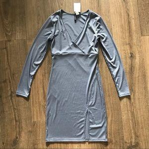 H&M Ribbed Wrap- Style Dress